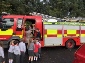 A visit from the fire fighters to P1/2