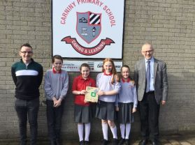 Carniny receives the Sustrans School Mark Bronze Award!