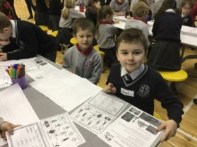 P3 Shared Education Morning at St. Colmcille's PS